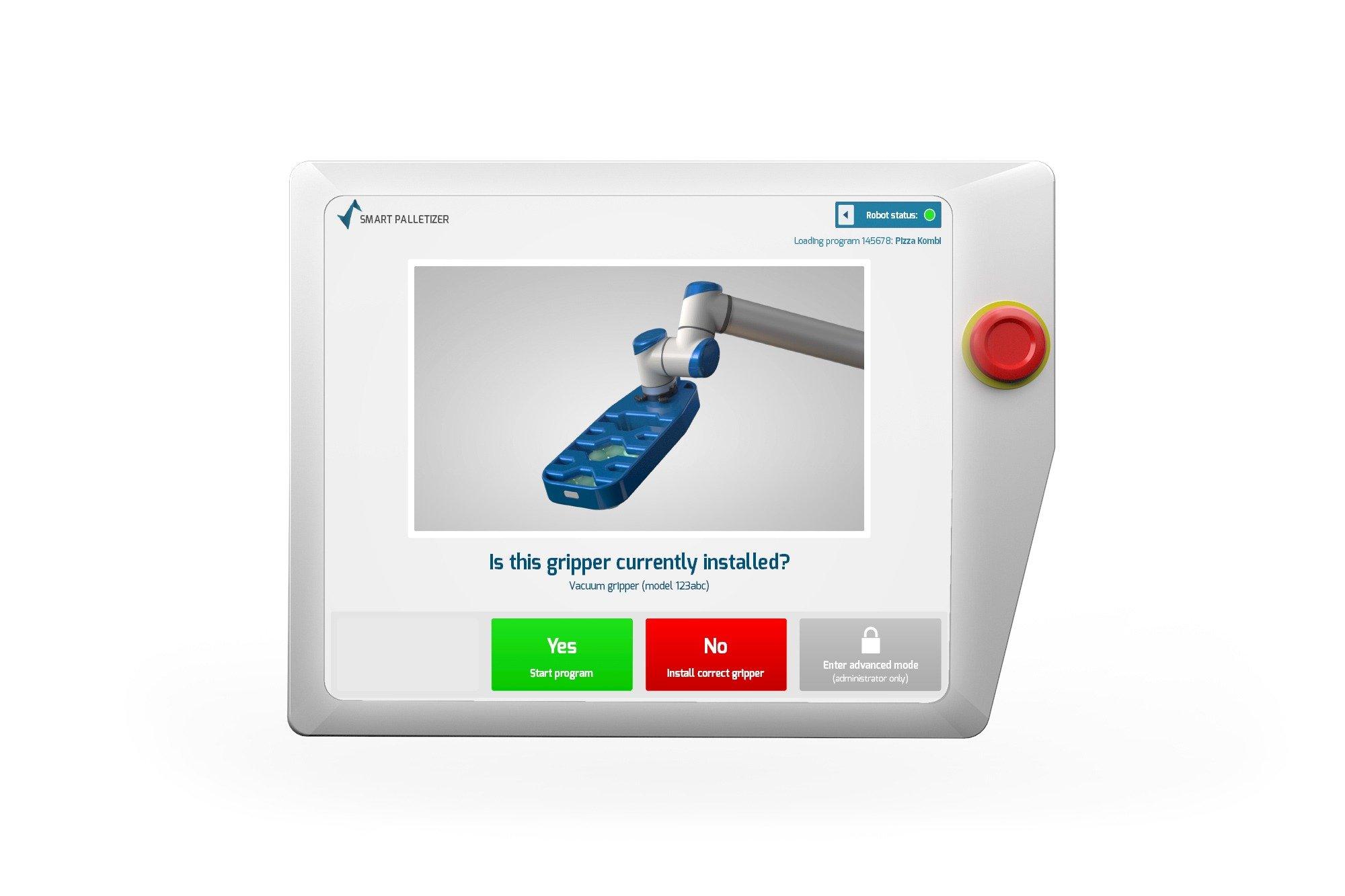 Smart Robotics replace gripper Screen