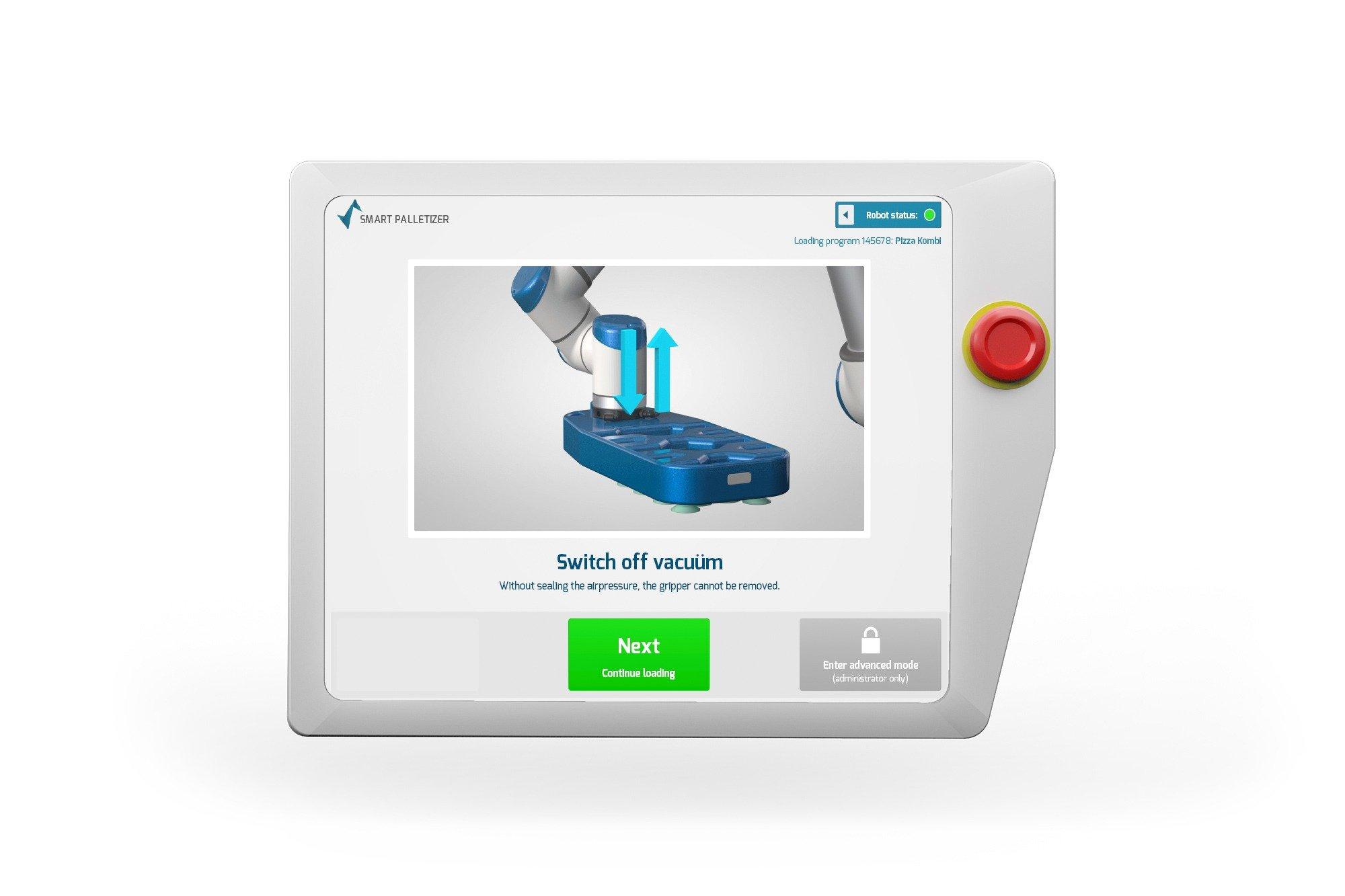 Smart Robotics switch off vacuum Screen