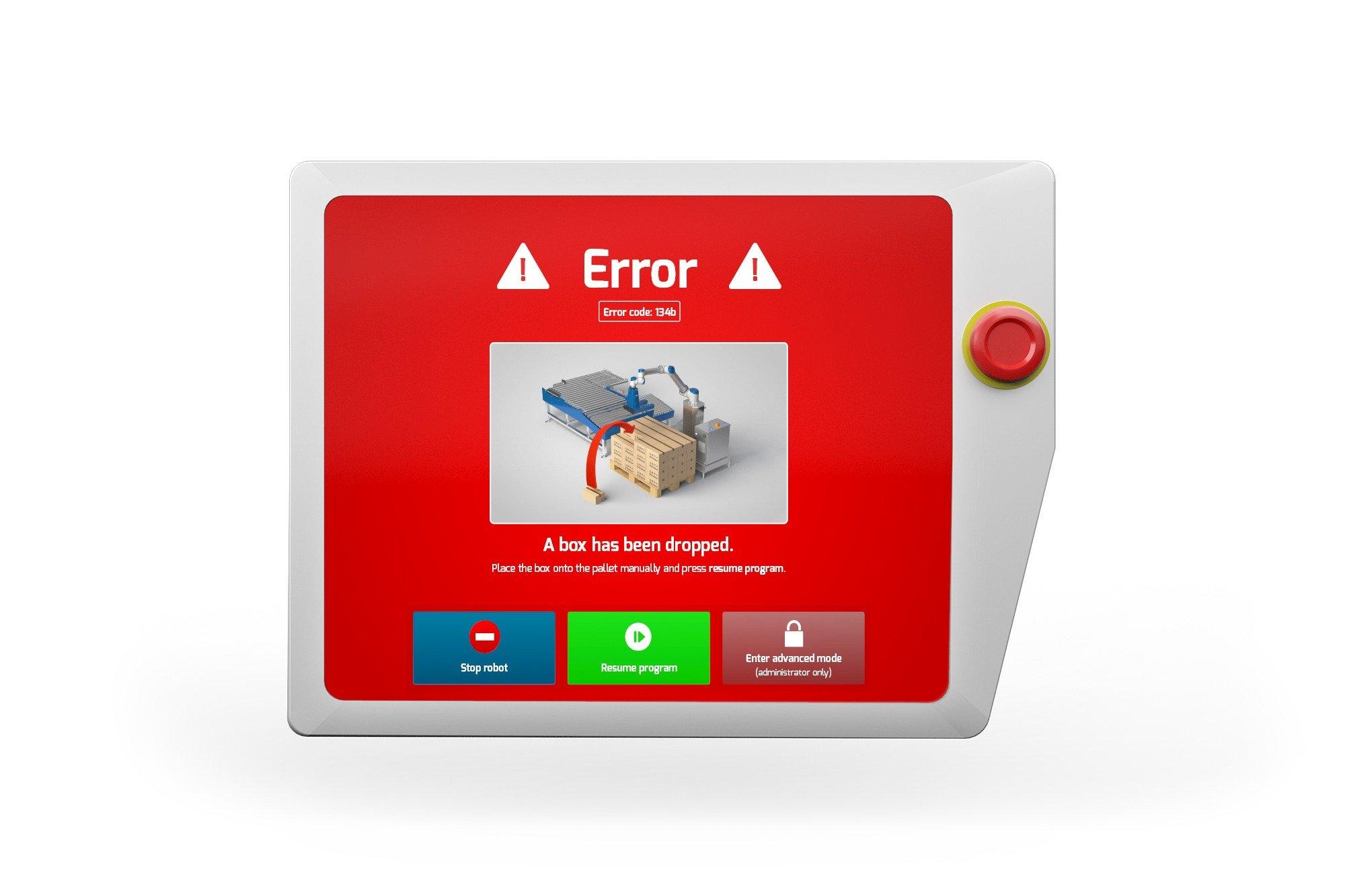Smart Robotics box dropped Screen