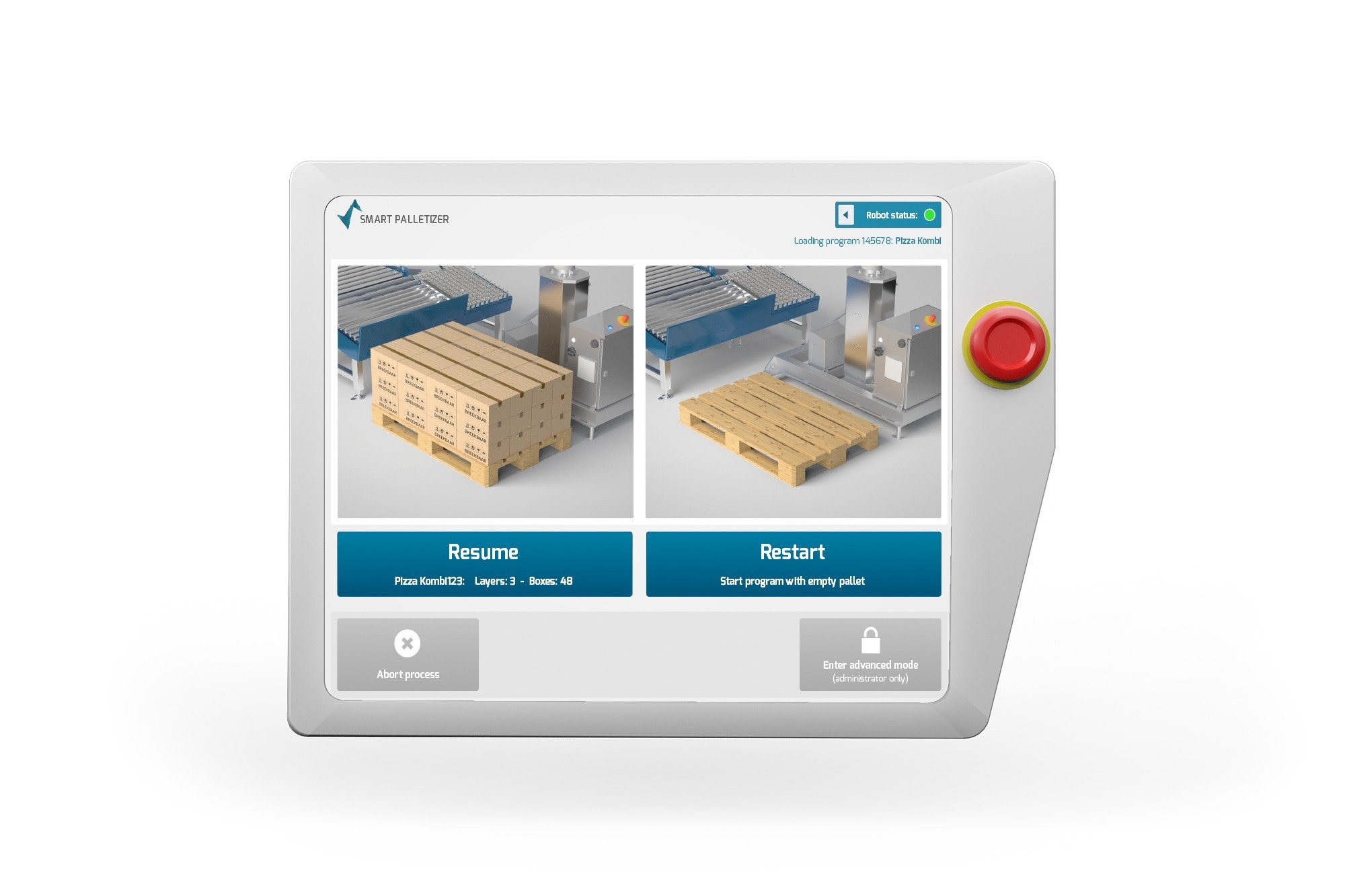 Smart Robotics dozen stapels Screen