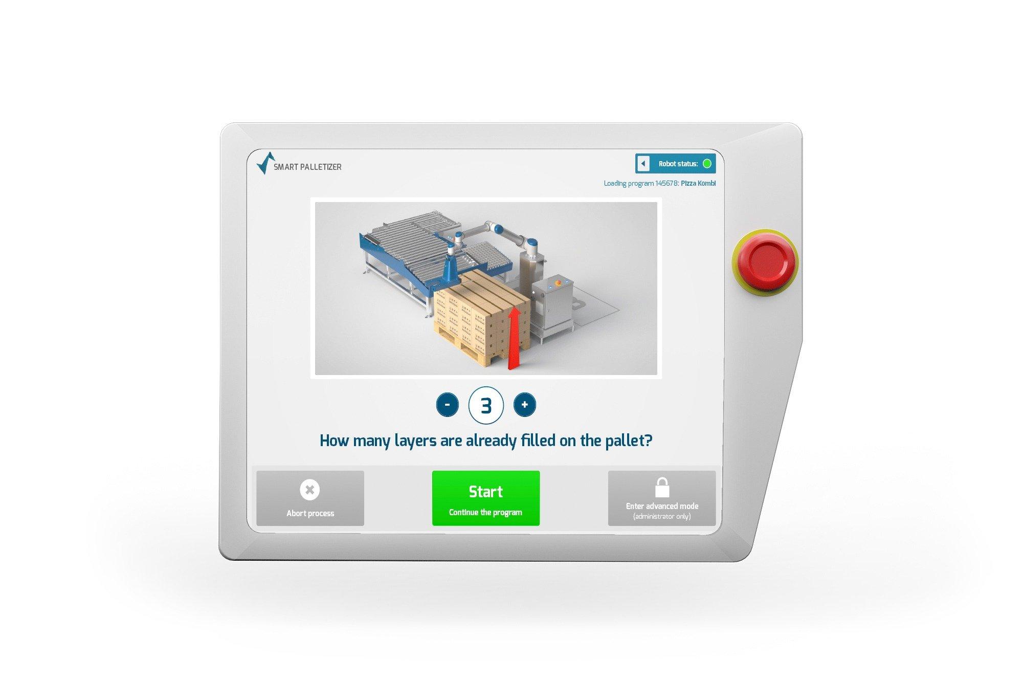 Smart Robotics pallet lagen Screen