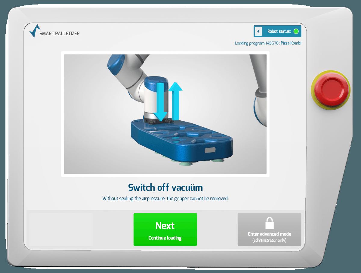 Smart Robotics remove vacuum Screen