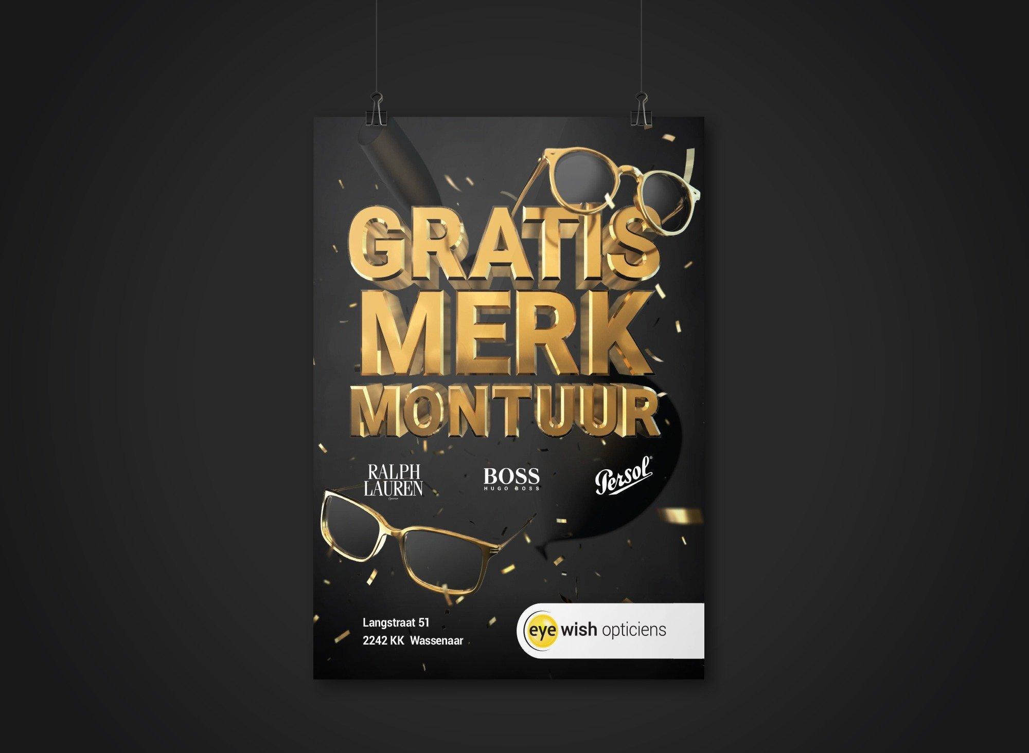 Eyewish campagne poster hangend